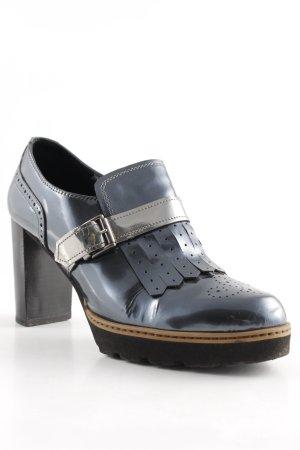 Maripé Loafer grigio ardesia-argento stile stravagante