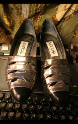 Maripe vintage Pumps in schwarz gold