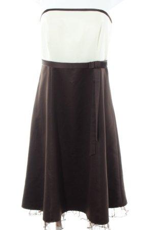 Mariposa A-Linien Kleid wollweiß-dunkelbraun Elegant