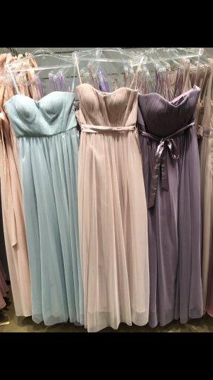 Mariposa Abendkleid aus feinem Tüll mit Satin-Taillengürtel - Hellrosa meliert