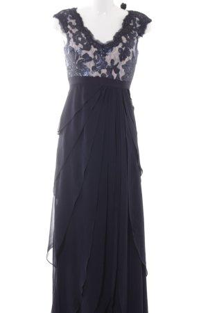 Mariposa Abendkleid dunkelblau-creme Elegant