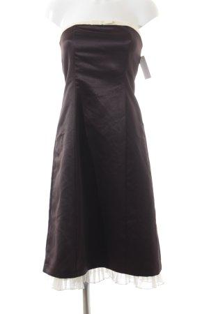 Mariposa Abendkleid dunkelbraun-creme Elegant