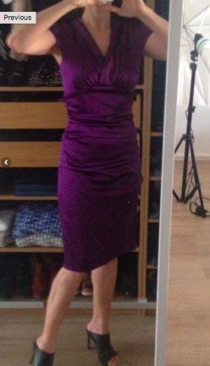 Mariposa Abendkleid lila klassisches Kleid midi Länge 36