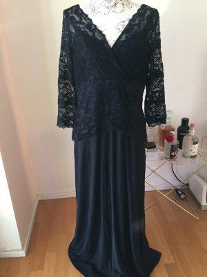 Mariposa Abendkleid Spitze dunkelblau Gr 48  einmal getragen