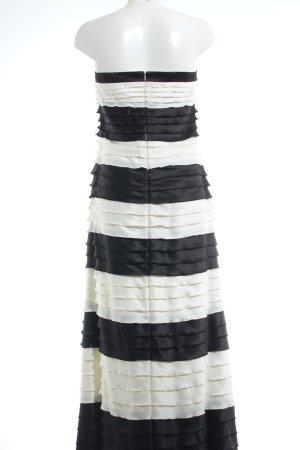 Mariposa Abendkleid wollweiß-schwarz Streifenmuster Elegant