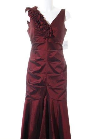 Mariposa Abito da ballo rosso scuro-bordeaux motivo floreale elegante