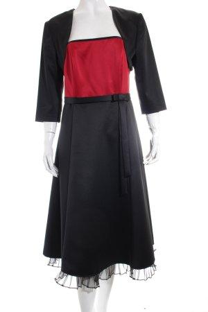 Mariposa Bandeaukleid schwarz-dunkelrot Elegant