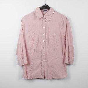 Mariposa Hemd Bluse Gr. 46 rot weiß gestreift