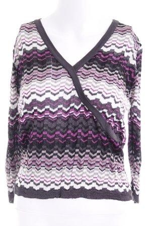 Mariposa Longshirt Zackenmuster Street-Fashion-Look