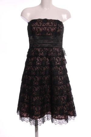 Mariposa Vestido strapless negro-marrón elegante