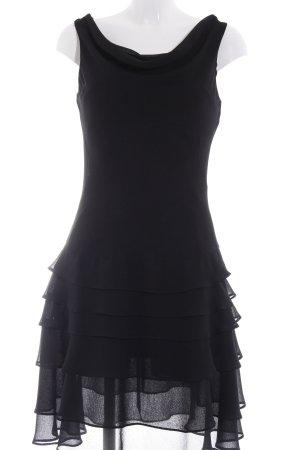 Mariposa Volantkleid schwarz klassischer Stil