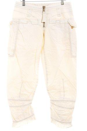 Marithé + Francois Girbaud Pantalon 7/8 beige clair style des années 90