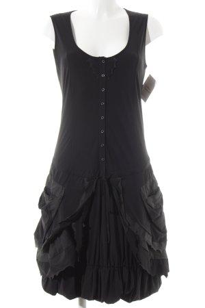 Marithé + Francois Girbaud A-Linien Kleid schwarz extravaganter Stil