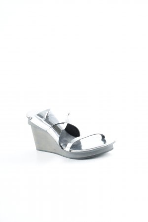 Marithé + Francois Girbaud Heel Pantolettes silver-colored-light grey