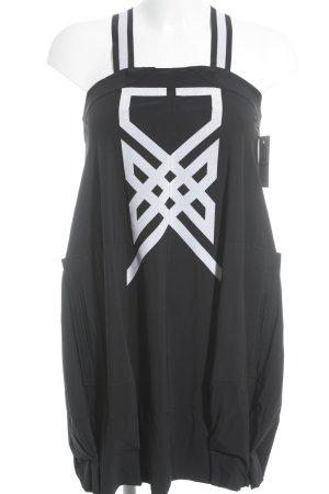 Marithé + Francois Girbaud Ballonkleid schwarz-wollweiß extravaganter Stil