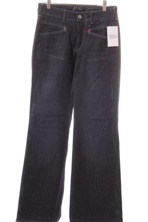 Marithé + Francois Girbaud Boot Cut Jeans dunkelblau Casual-Look