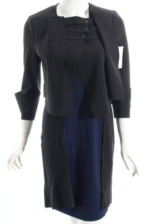 Marithé + Francois Girbaud Etuikleid schwarz-dunkelblau klassischer Stil
