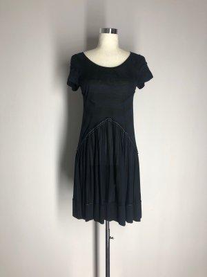 Marithé + Francois Girbaud Kleid, blau-schwarz gestreift