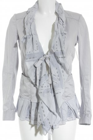 Marithé + Francois Girbaud Kurz-Blazer hellgrau Street-Fashion-Look