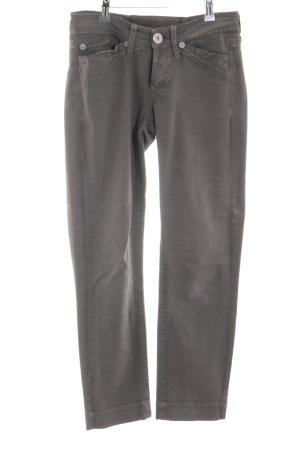 Marithé + Francois Girbaud Pantalone a sigaretta grigio chiaro stile casual