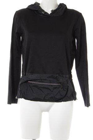 Marithé + Francois Girbaud Sportshirt schwarz extravaganter Stil