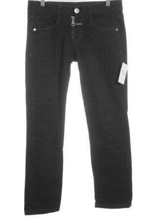 Marithé + Francois Girbaud Straight-Leg Jeans anthrazit Washed-Optik