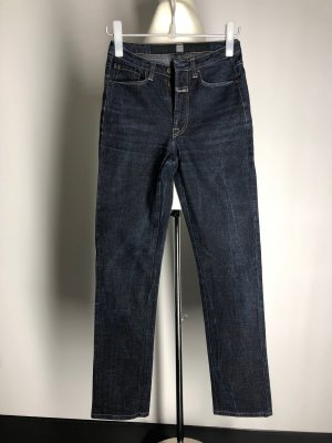 Marithé + Francois Girbaud Jeans a vita alta blu scuro Cotone