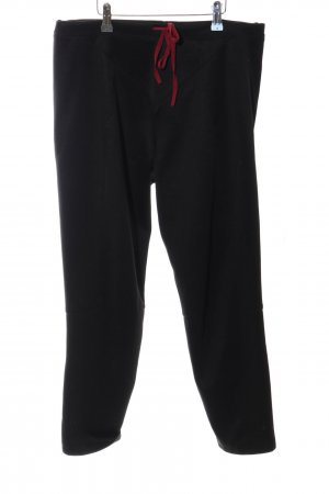 Marithé + Francois Girbaud Sweat Pants black-red casual look