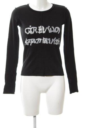 Marithé + Francois Girbaud Sweatshirt schwarz-weiß Schriftzug gedruckt