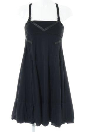 Marithé + Francois Girbaud Trägerkleid schwarz extravaganter Stil