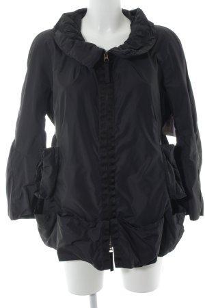 Marithé + Francois Girbaud Übergangsjacke schwarz minimalistischer Stil