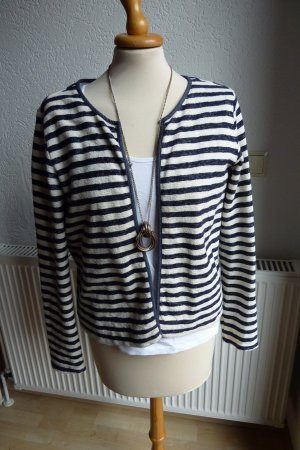 Esprit Knitted Blazer white-dark blue cotton
