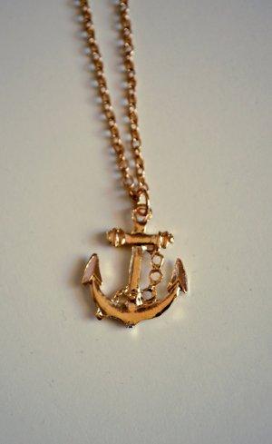 Maritime Anker Lookbook Kette in Gold