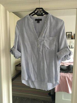 Maritime Bluse Hemd V-Ausschnitt geringelt