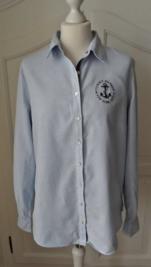maritime TOMMY HILFIGER Oxford Bluse Gr. 10 (40) hellblau wenig getragen
