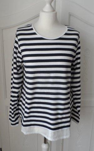 maritimer Gina Benotti Pullover Gr. 40/42 Dunkelblau Weiß 1 x getragen