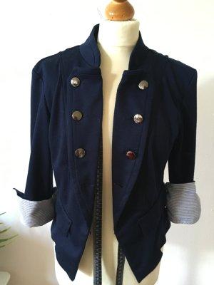 Maritimer Jersey Blazer blau S