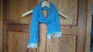 Maritimer Schal mit Glöckchen, Ankern und Print