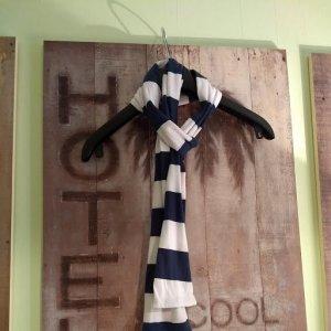 Summer Scarf blue cotton