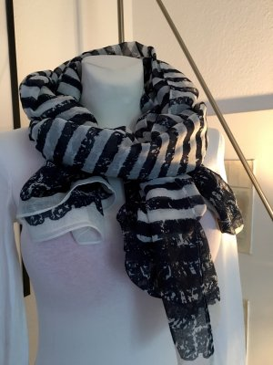 Gina Bernotti Summer Scarf dark blue-white