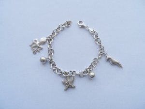 Bracelet silver-colored real silver