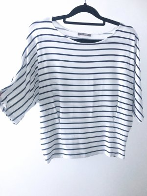 Orsay Oversized Shirt white-dark blue