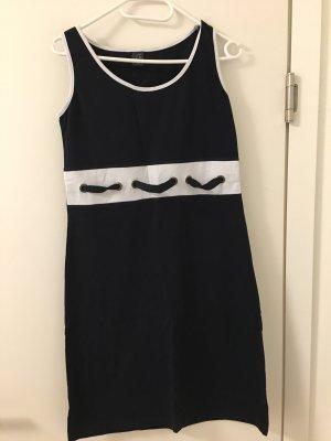Stretch Dress dark blue-white