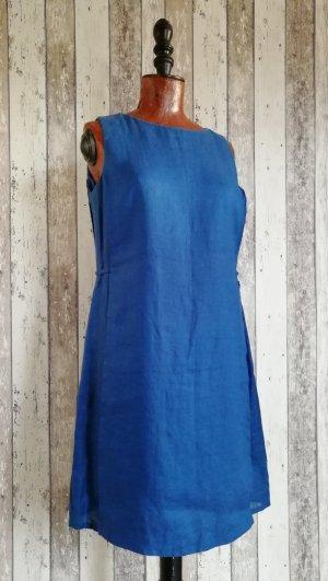 Blacky Dress Abito blu acciaio Lino