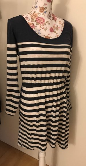 Billabong High Low Dress dark blue-white