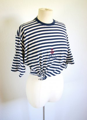 Maritimes Shirt gestreift oversized, Navy Shirt Festival