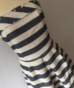 Miss Miss by Valentina Abito a palloncino bianco-blu scuro