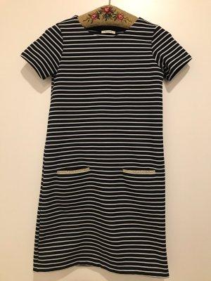 maritimes Streifen Kleid Promod, S, blau/gold
