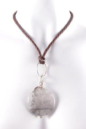 Marjana von Berlepsch Chain dark brown-silver-colored hippie style
