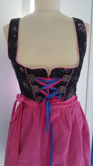MarJo Dirndl Gr. 36 schwarz pink